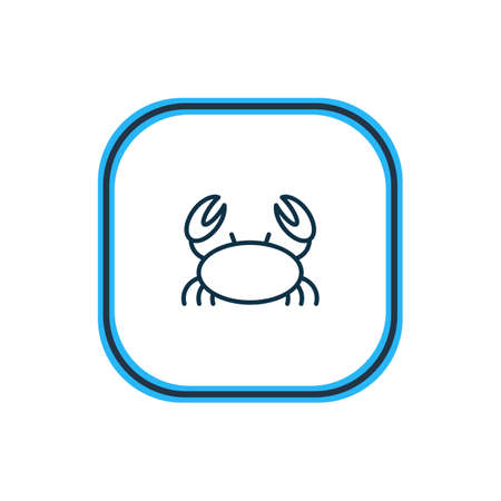Vector illustration of marine crab icon line. Beautiful maritime element also can be used as cancer icon element. Stock Vector - 126609736