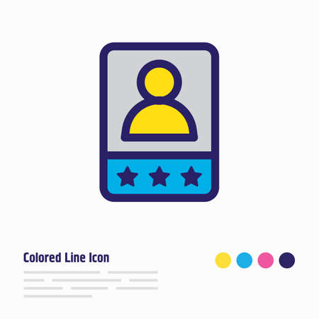 Vector illustration of customer testimonials icon colored line. Beautiful marketing element also can be used as client satisfaction icon element.