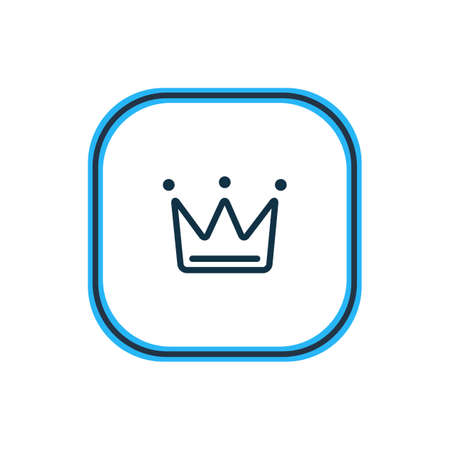 Vector illustration of crown icon line. Beautiful party element also can be used as queen icon element.