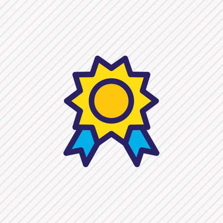 Vector illustration of award icon colored line. Beautiful joy element also can be used as quality icon element. Illusztráció