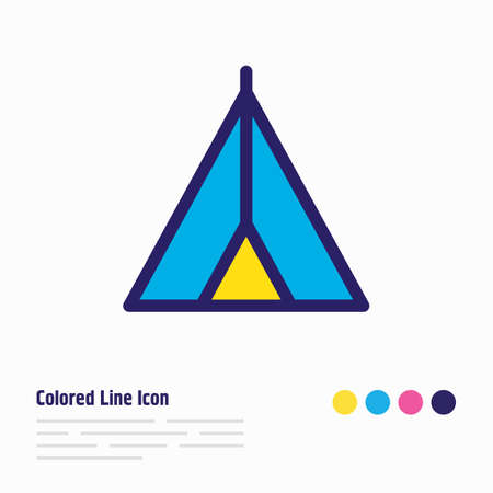 Vector illustration of tent icon colored line. Beautiful lifestyle element also can be used as camping icon element.
