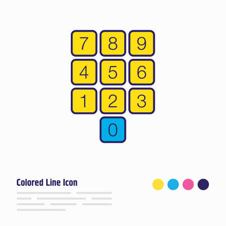 Vector illustration of numpad icon colored line. Beautiful laptop element also can be used as numeric keypad icon element.