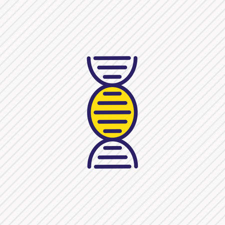 Vector illustration of dna icon colored line. Beautiful health element also can be used as genetic icon element.