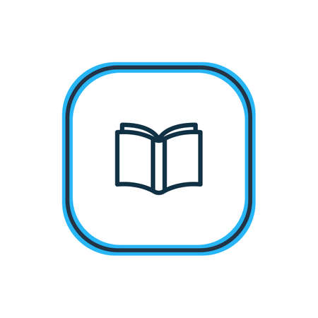 Vector illustration of learn icon line. Beautiful book reading element also can be used as publishing icon element.