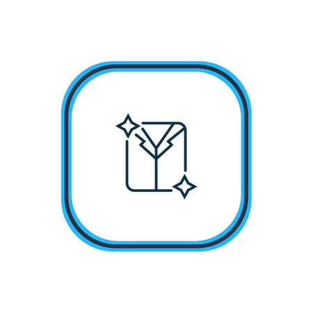 Vector illustration of dry cleaning icon line. Beautiful hotel element also can be used as clean laundry icon element. 向量圖像