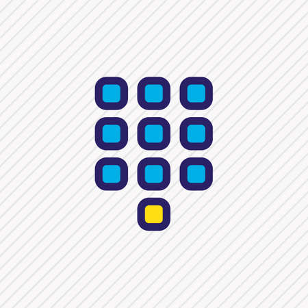 Vector illustration of buttons icon colored line. Beautiful connect element also can be used as numpad icon element.
