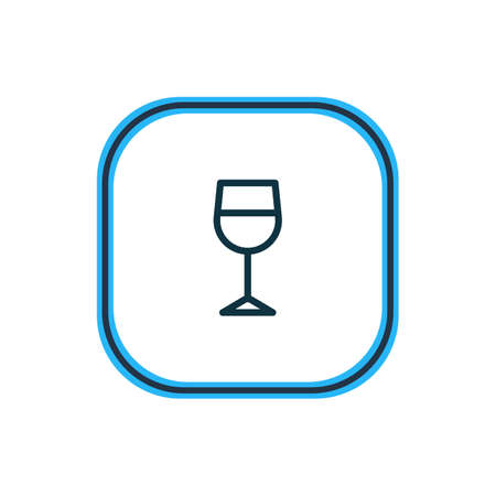 Vector illustration of wineglass icon line. Beautiful hobby element also can be used as beverage icon element.