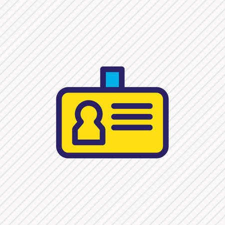Vektor-Illustration der farbigen Linie des ID-Symbols. Schönes Verbindungselement kann auch als persönliches Abzeichensymbol verwendet werden.