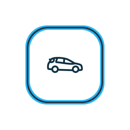 Vector illustration of medium suv icon line. Beautiful vehicle element also can be used as auto icon element.