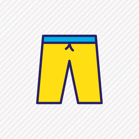 Vector illustration of shorts icon colored line. Beautiful clothes element also can be used as swimming trunks icon element. 写真素材 - 126408213