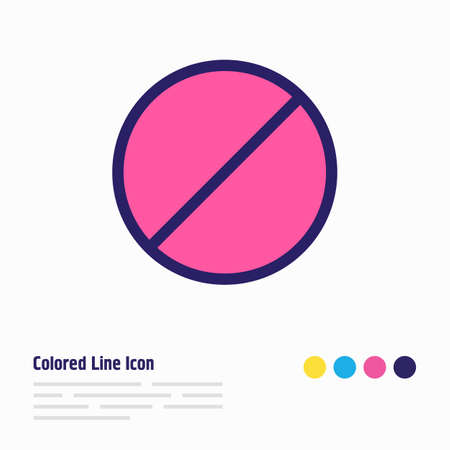 Vector illustration of ban icon colored line. Beautiful annex element also can be used as block icon element.