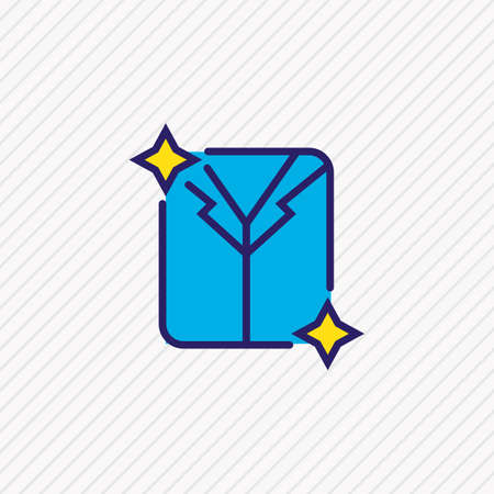 Vector illustration of dry cleaning icon colored line. Beautiful travel element also can be used as clean laundry icon element.
