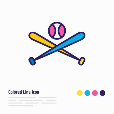 illustration of baseball icon colored line. Beautiful entertainment element also can be used as batting icon element.