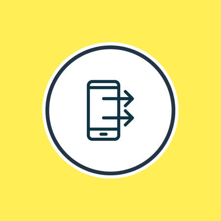 Vector illustration of upload icon line. Beautiful telephone element also can be used as gadget icon element.