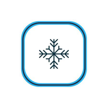Vector illustration of snowflake icon line. Beautiful atmosphere element also can be used as snow  icon element.
