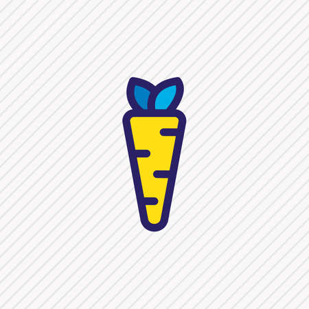 illustration of carrot icon colored line. Beautiful entertainment element also can be used as veggie icon element. Фото со стока
