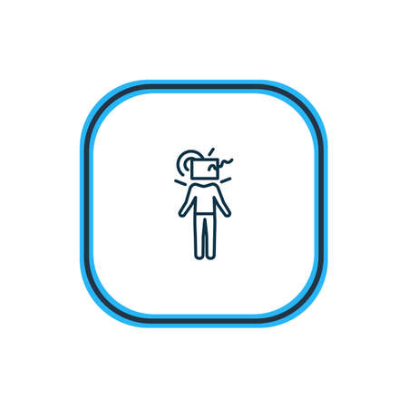 Vector illustration of think outside box icon line. Beautiful emoji element also can be used as creative icon element. Illustration