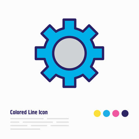 Vector illustration of gear icon colored line. Beautiful industry element also can be used as cogwheel icon element.
