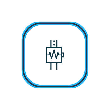Vector illustration of cardiogram icon line. Beautiful health element also can be used as heartbeat icon element. Illustration