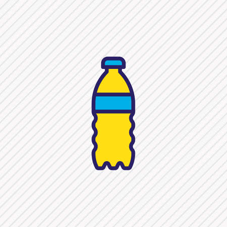 Vector illustration of water bottle icon colored line. Beautiful medicine element also can be used as soda icon element.