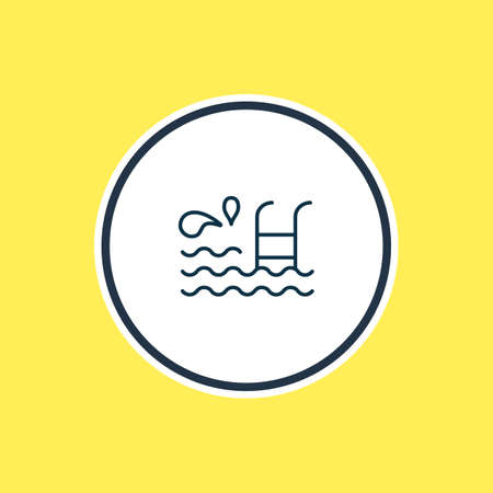 Vector illustration of swimming pool icon line. Beautiful naval element also can be used as breaststroke icon element.