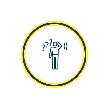 Vector illustration of undecided icon line. Beautiful emoji element also can be used as problem icon element.