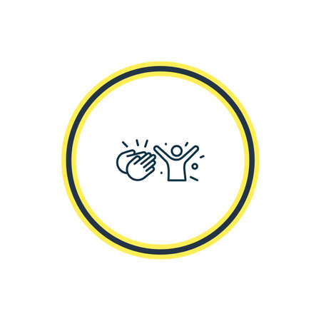 Vector illustration of admire icon line. Beautiful emoji element also can be used as congratulation icon element.