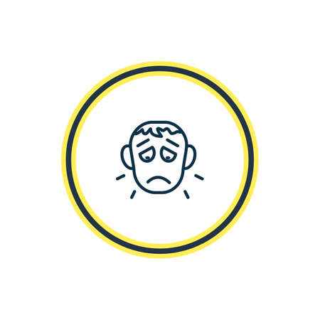 Vector illustration of offence icon line. Beautiful emotions element also can be used as sorrow icon element. Illustration