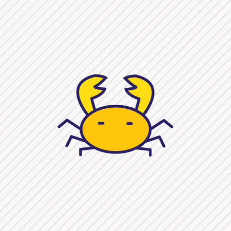 Vector illustration of crab icon colored line. Beautiful tourism element also can be used as cancer icon element.