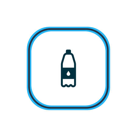illustration of drink bottle icon line. Beautiful eating element also can be used as filtered water icon element. 写真素材 - 116588920