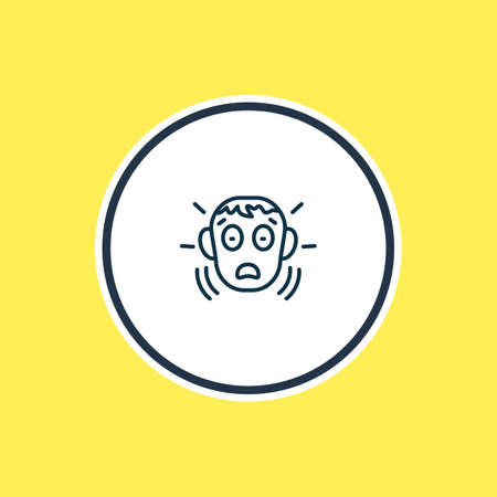 Vector illustration of fear icon line. Beautiful emoji element also can be used as frightened icon element.