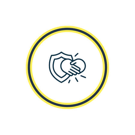 Vector illustration of integrity icon line. Beautiful emoji element also can be used as handshake icon element.
