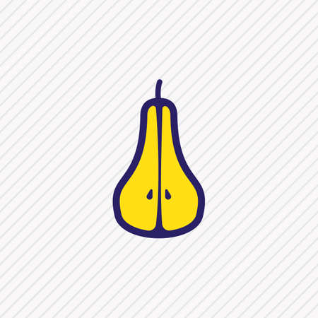 Vector illustration of pear icon colored line. Beautiful eating element also can be used as duchess icon element. Ilustracja