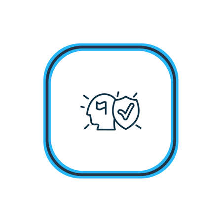 Vector illustration of commitment icon line. Beautiful emoticon element also can be used as committal icon element.