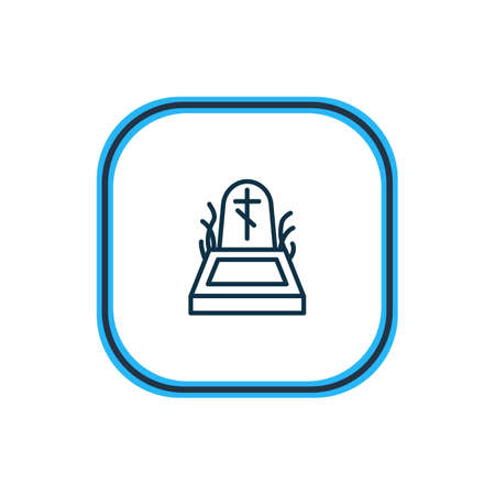 Vector illustration of death icon line. Beautiful emoji element also can be used as rip icon element.