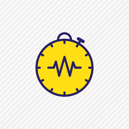 Vector illustration of timer icon colored line. Beautiful medical element also can be used as stopwatch icon element.