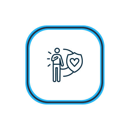 Vector illustration of honesty icon line. Beautiful emoji element also can be used as loyalty icon element.