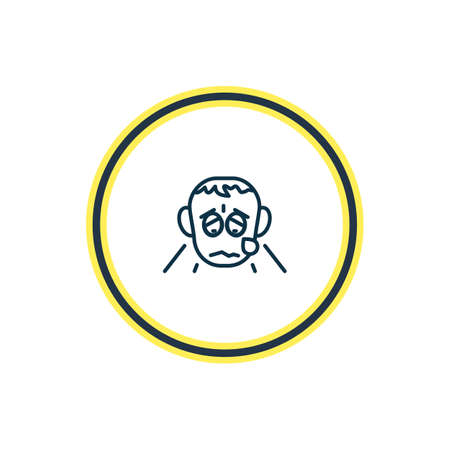 illustration of grieving icon line. Beautiful emoji element also can be used as crying icon element.