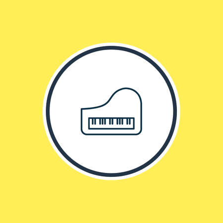 Vector illustration of piano icon line. Beautiful hobby element also can be used as octave icon element. Illustration