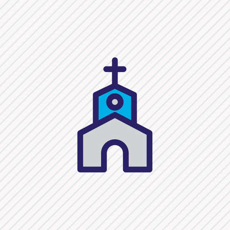 Vector illustration of church icon colored line. Beautiful party element also can be used as chapel icon element. Illustration