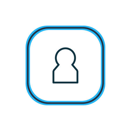 illustration of member icon line. Beautiful connect element also can be used as profile icon element. 스톡 콘텐츠 - 116981498