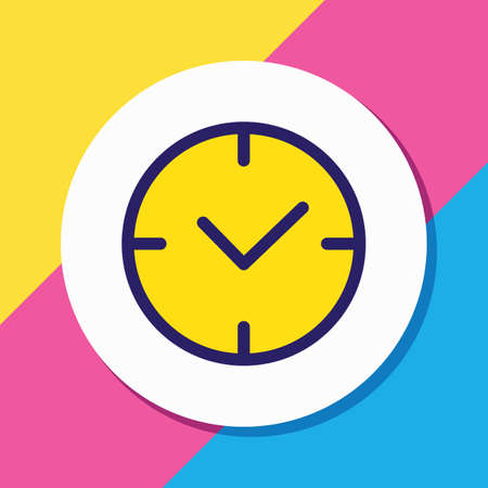 Vector illustration of time icon colored line. Beautiful app element also can be used as clock icon element. 向量圖像