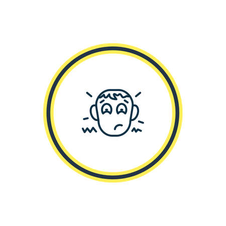 Vector illustration of disappointment icon line. Beautiful emotions element also can be used as worried icon element.