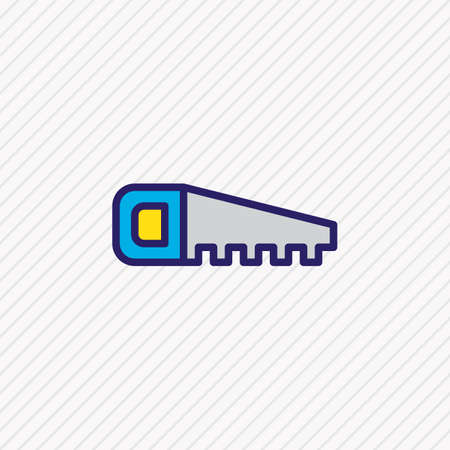 Vector illustration of handsaw icon colored line. Beautiful industry element also can be used as hacksaw icon element.