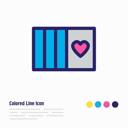 Vector illustration of cards icon colored line. Beautiful entertainment element also can be used as poker icon element. Illustration