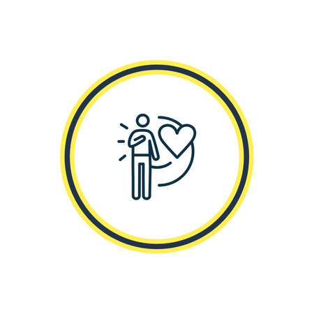 Vector illustration of loyalty icon line. Beautiful emoji element also can be used as devotion icon element.