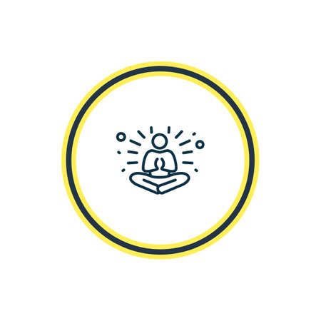Vector illustration of meditation icon line. Beautiful emoticon element also can be used as yoga icon element.