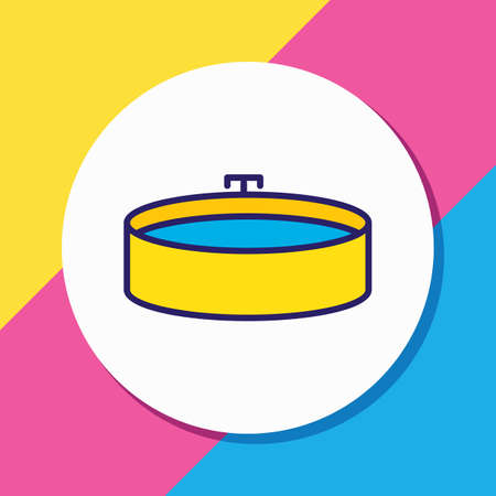 Vector illustration of jacuzzi icon colored line. Beautiful hotel element also can be used as bathtub icon element.
