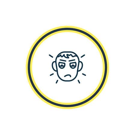 Ilustración de vector de línea de icono de celos. El hermoso elemento emoji también se puede usar como elemento de icono de envidia.