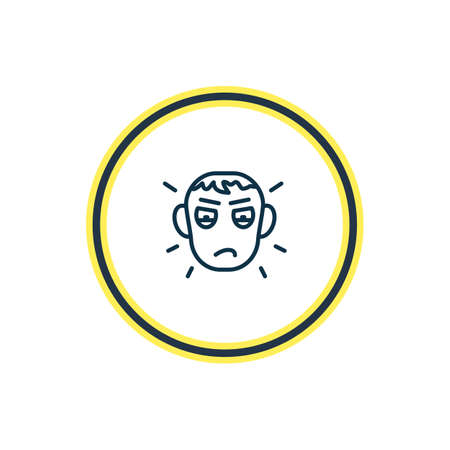 Vector illustration of jealousy icon line. Beautiful emoji element also can be used as envy icon element.